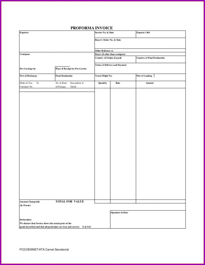 Free Invoice Template Download Word