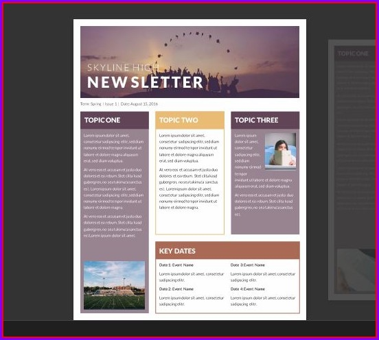 Free Newsletter Templates Microsoft Word