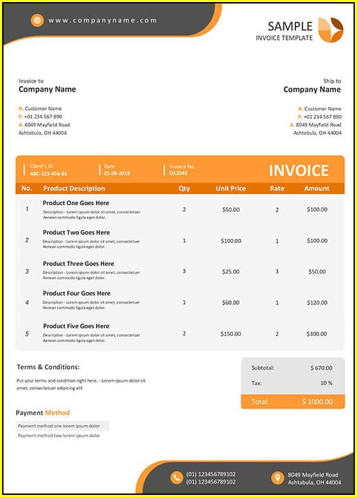 Pay Stub Template Open Office