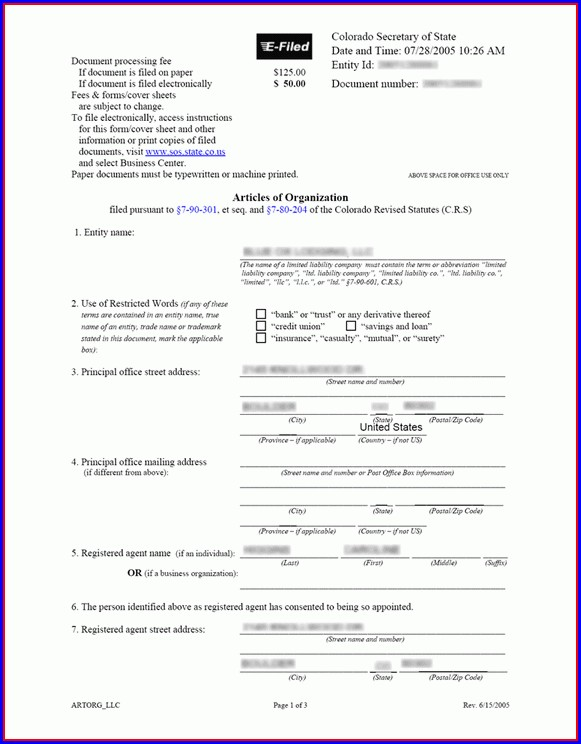 Articles Of Incorporation Amendment Template