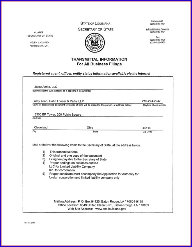Articles Of Incorporation Llc Georgia Template