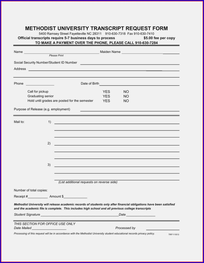 Cuny High School Transcript Request Form