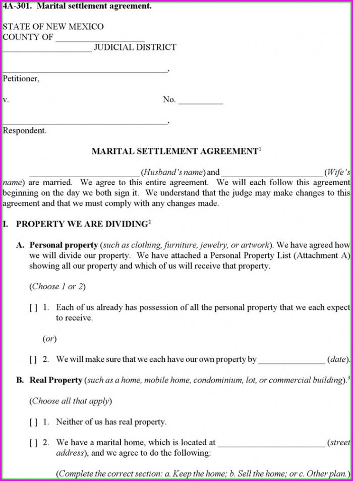 Marriage Settlement Agreement Template California Settlement Throughout Marital Settlement Agreement Template