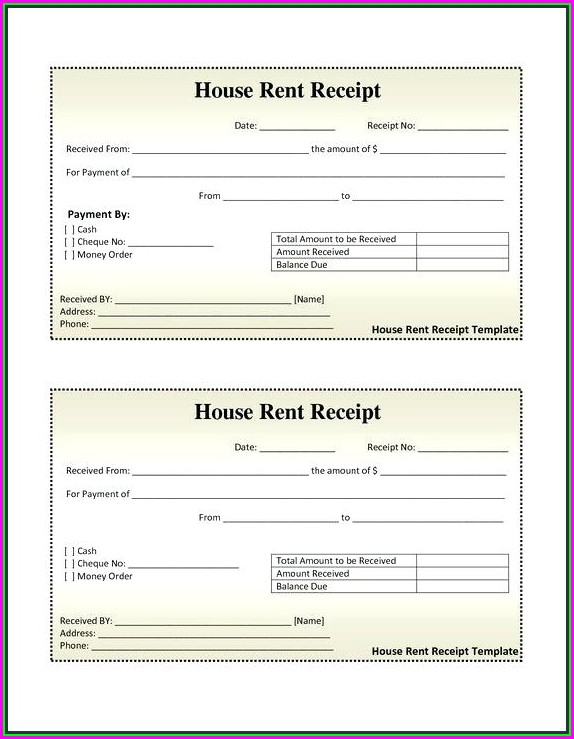 Rent A Room Invoice Template