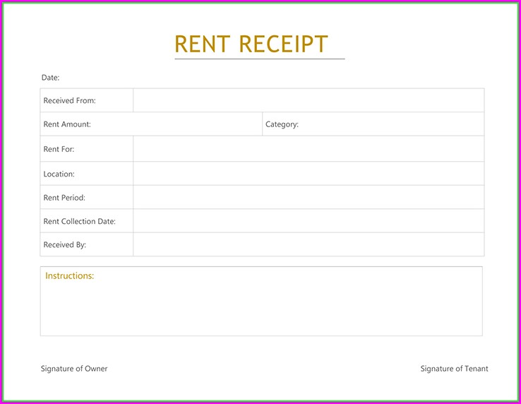 Room Rent Invoice Template