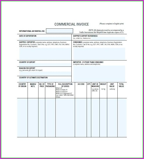 Simple Rent Invoice Template