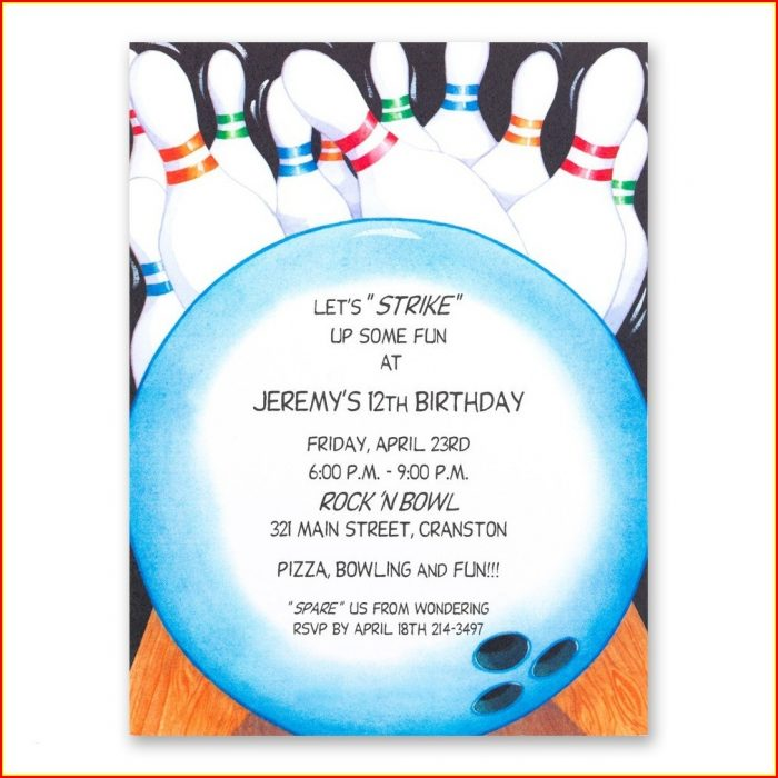 Bowling Birthday Invitation Template