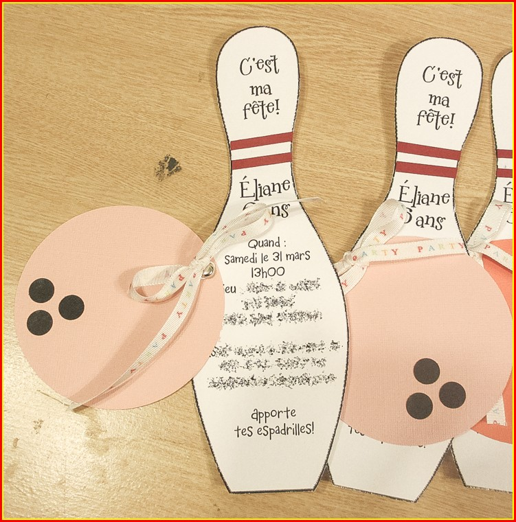 Bowling Pin Template For Invitation