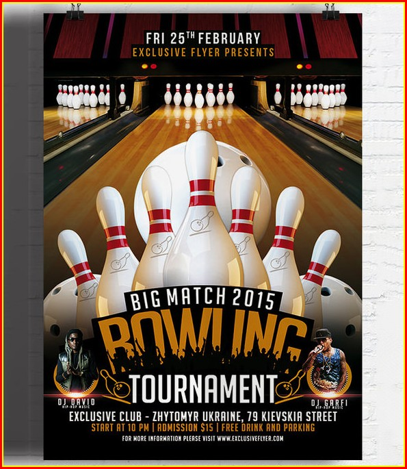 Bowling Tournament Invitation Template