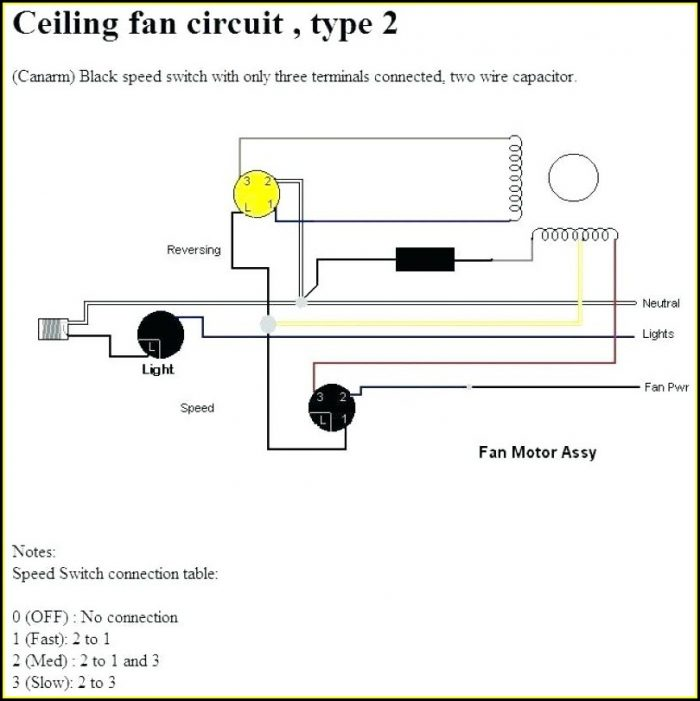 Ceiling Fan 2 Wire Capacitor Wiring Diagram