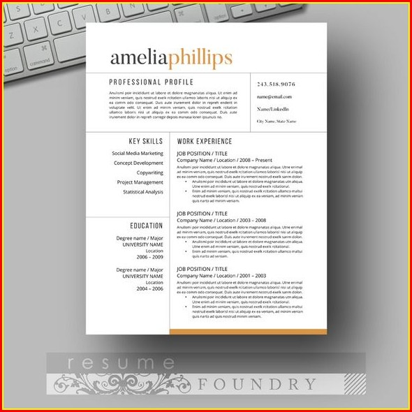 Eye Catching Resume Templates Microsoft Word Free