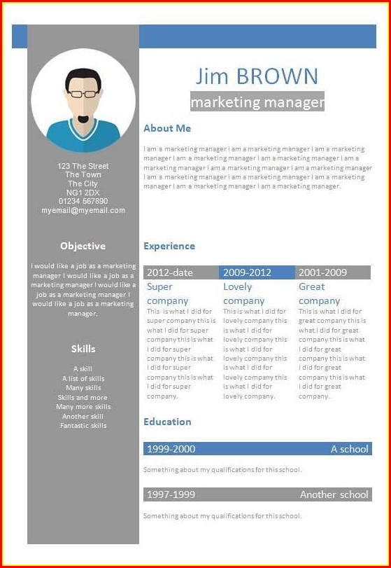 Free Creative Resume Templates In Microsoft Word