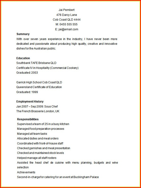 Microsoft Word 2007 Resume Templates Free Download ...