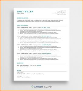 Microsoft Office Word Resume Templates Free