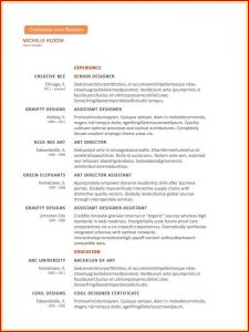 Microsoft Word Resume Templates For Free