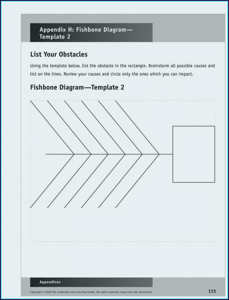 Sample Fishbone Diagram Template