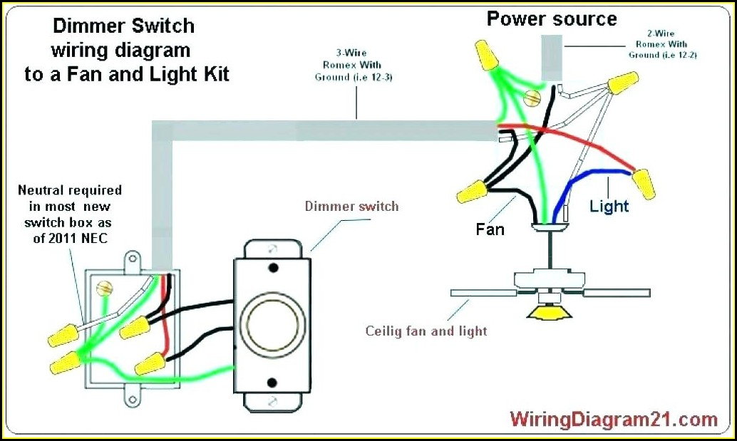 Wiring Diagram For Ceiling Fan With Light Switch