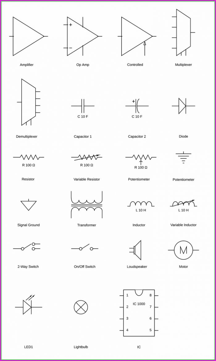 Wiring Diagram Symbols Key