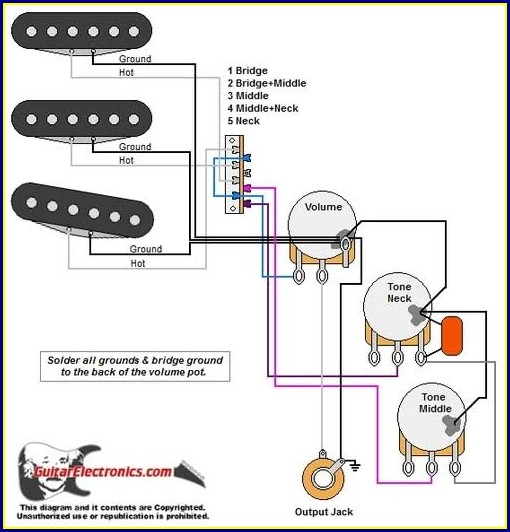 Bass Guitar Wiring Diagram 3 Pickups