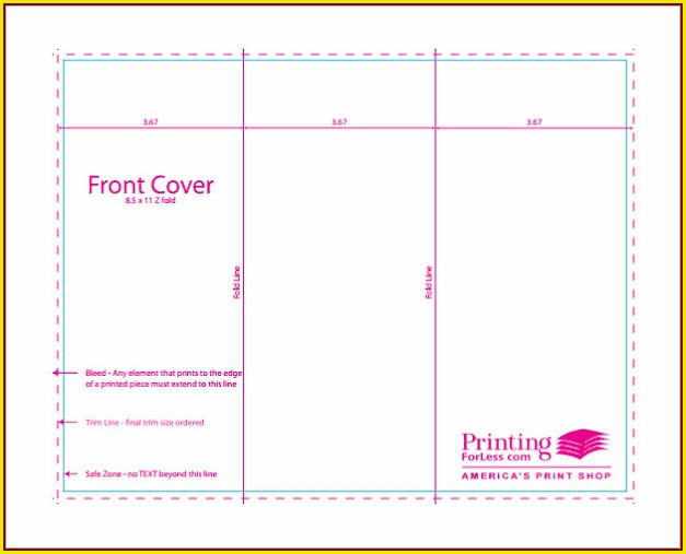 11x17 Trifold Template