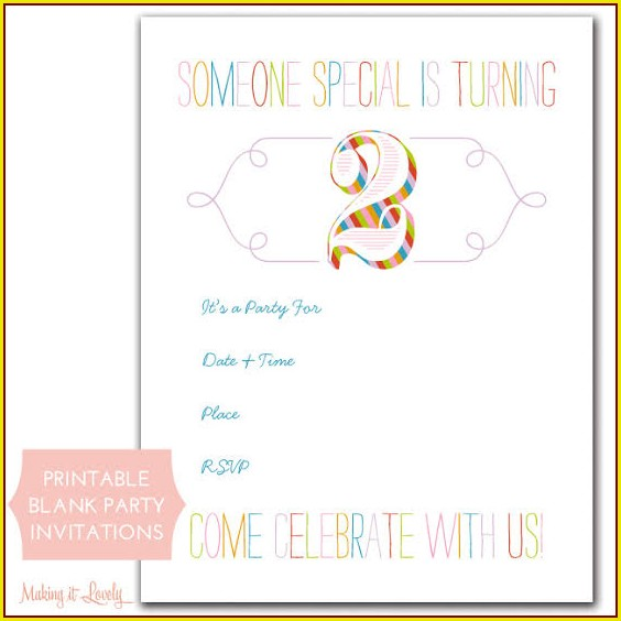 2nd Birthday Invitation Templates Free Download