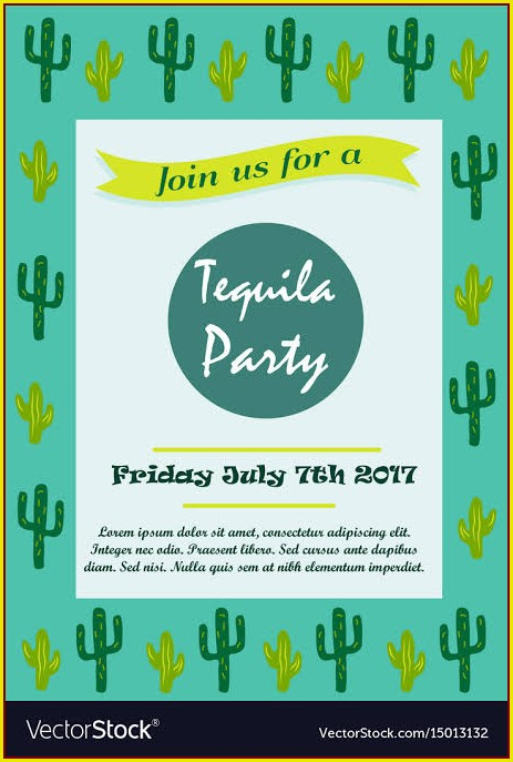Cactus Invitation Template Free