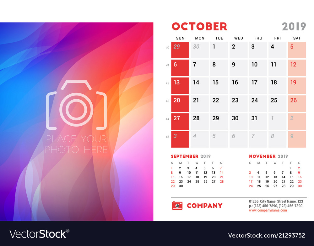 Desk Calendar Design Template