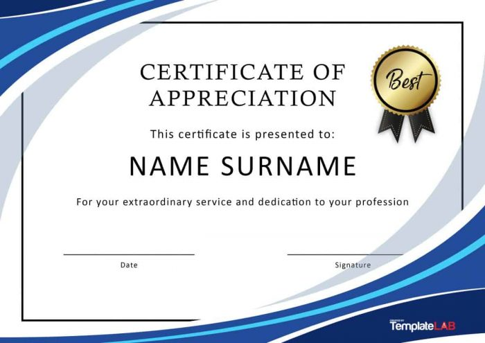 Employee Recognition Certificate Template Free