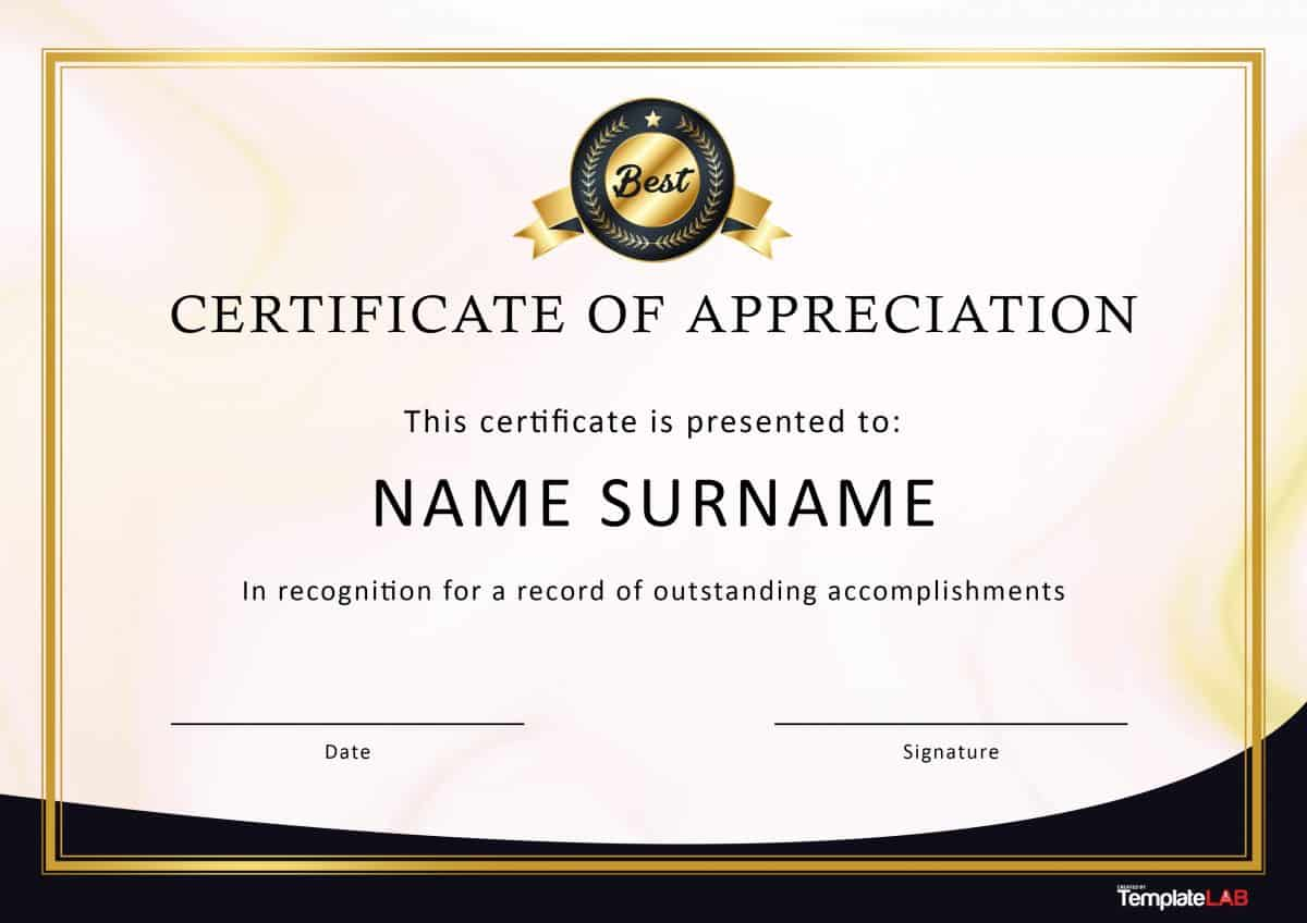 Employee Recognition Certificate Template