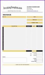 Recruitment Agency Invoice Template Free