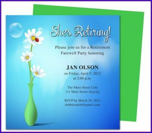 Retirement Party Flyer Template Word Free