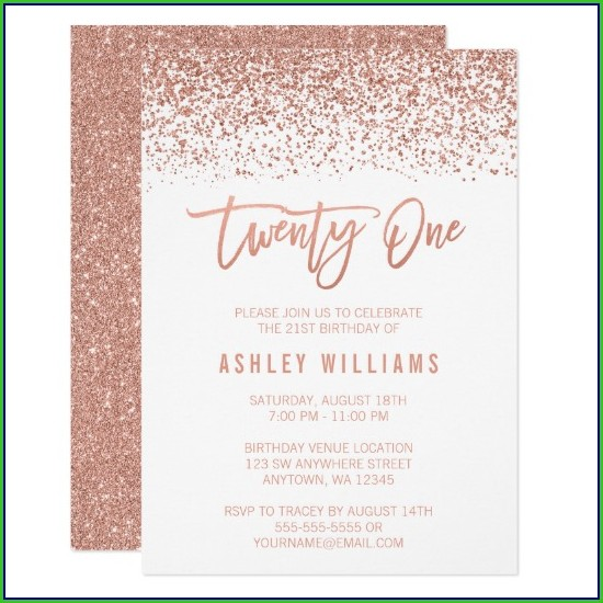Rose Gold Invitation Template Free