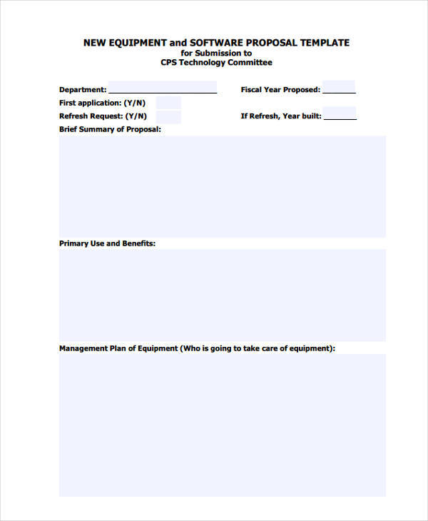 Software Purchase Proposal Template