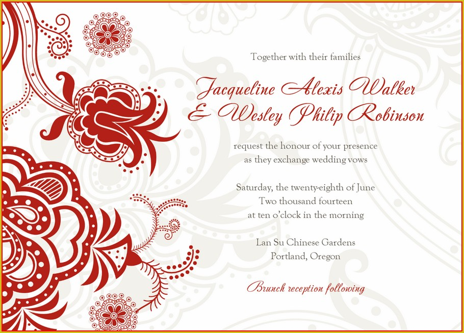 Christian Wedding Card Templates Free Download
