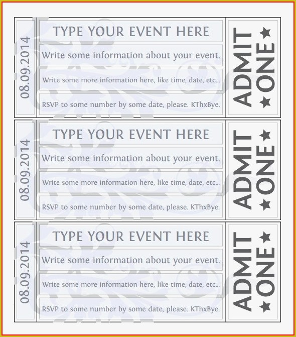 Fundraising Dance Ticket Template