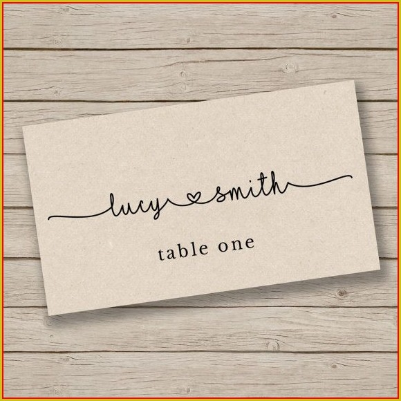 Table Seating Name Cards Template
