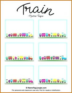 Vertical Name Badge Template Word
