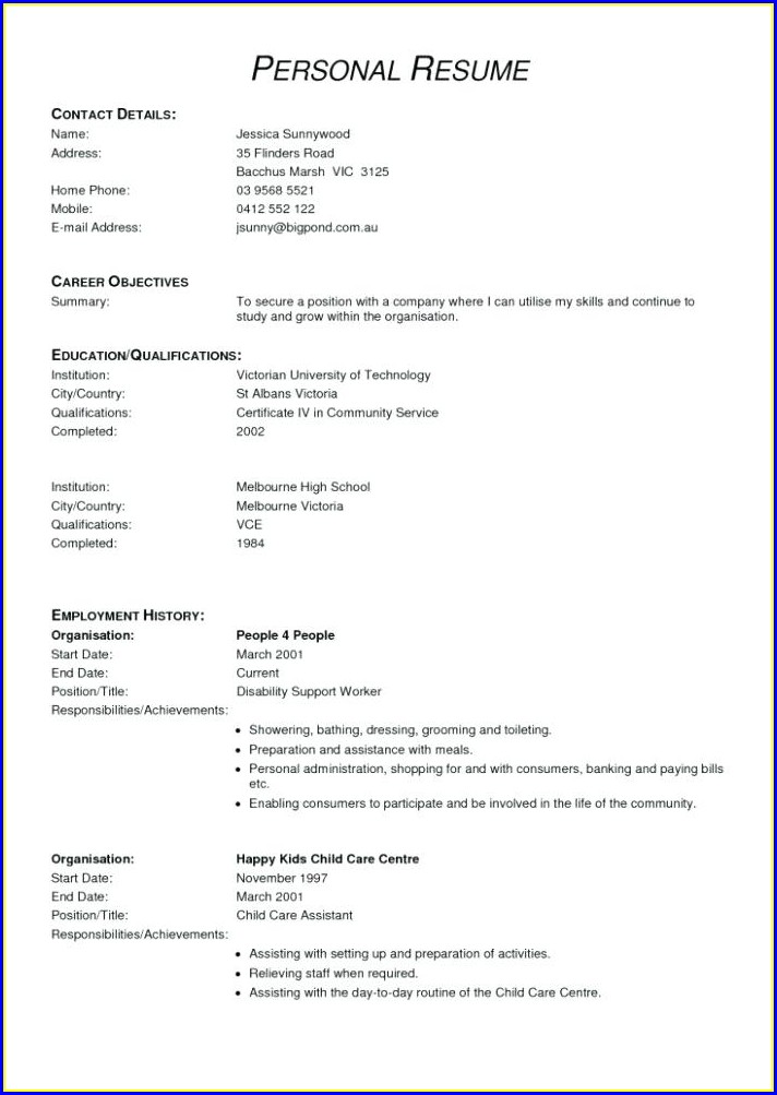 Armed Security Guard Resume Template