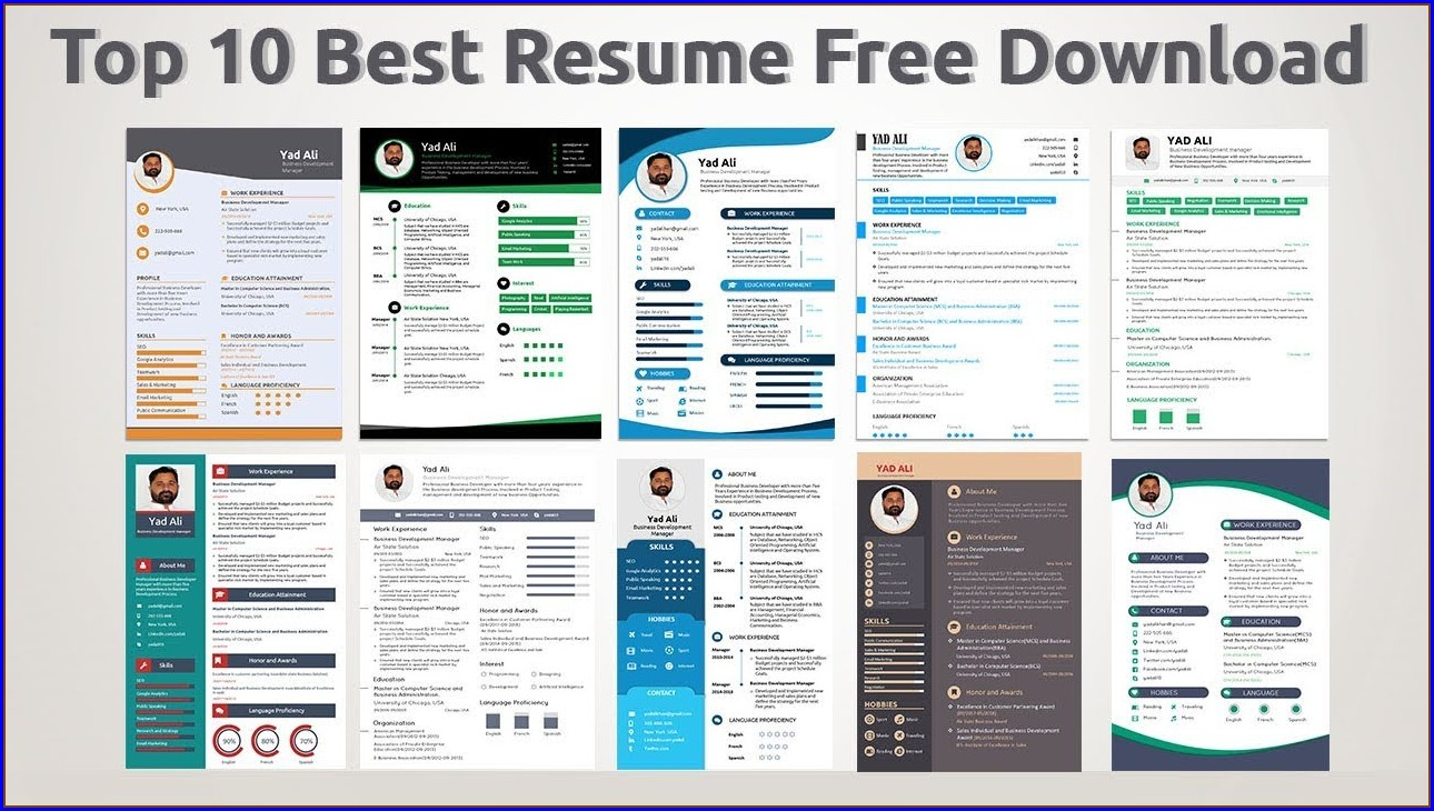Best Resume Templates 2019 Free Download