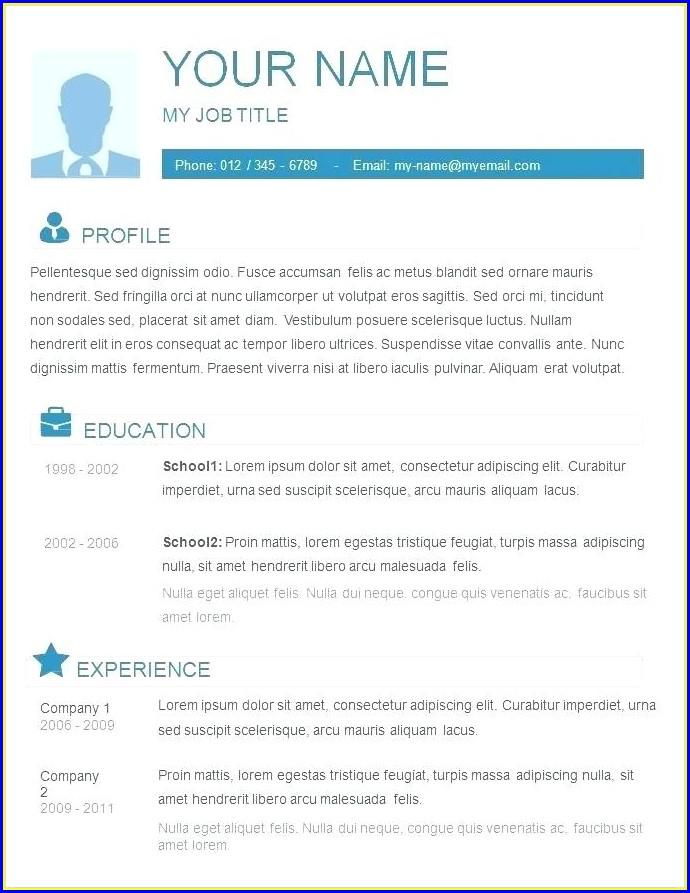 Cv Templates Free Download Word Document Bahasa Indonesia