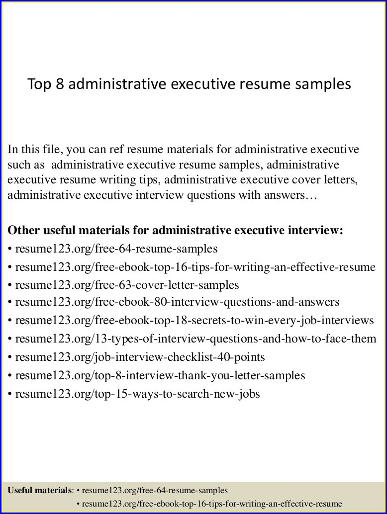 Examples Of Medical Administrative Assistant Resumes