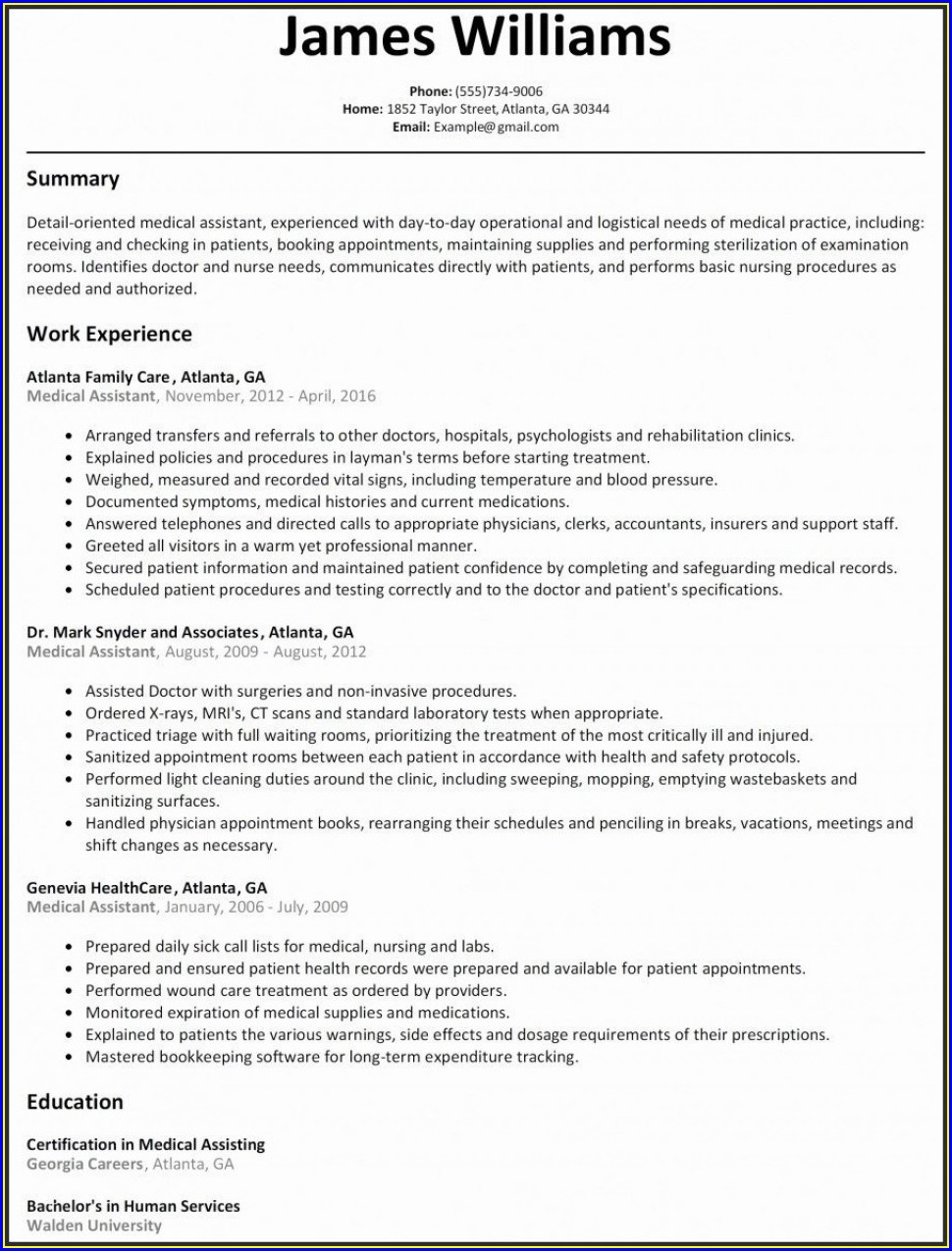 Federal Resume Template For Veterans