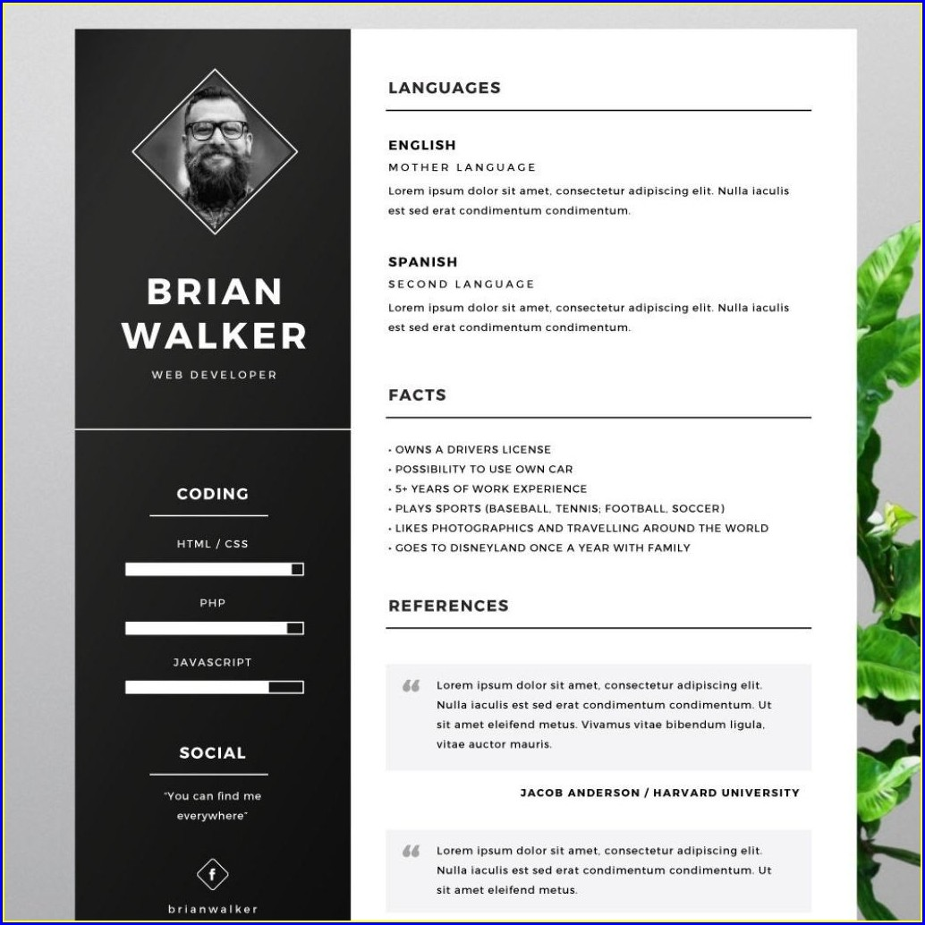 Free Cv Templates For Word