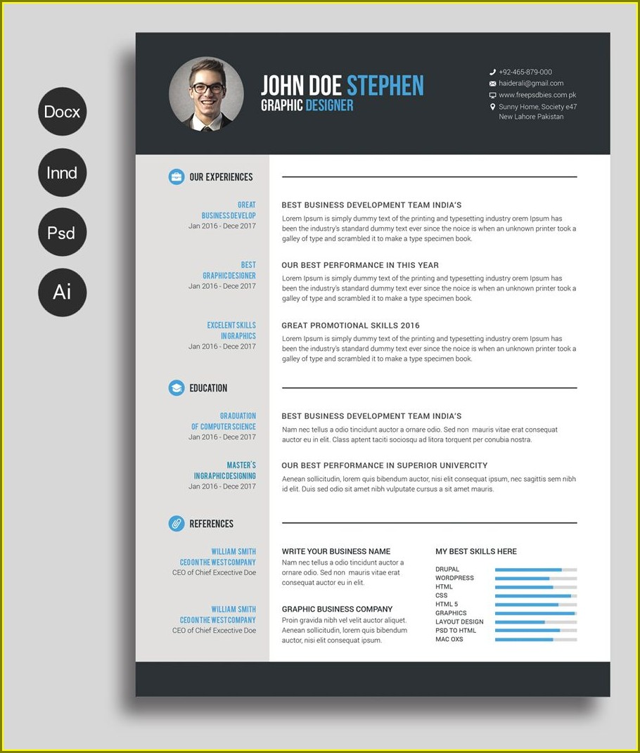 Free Downloadable Resume Templates Mac