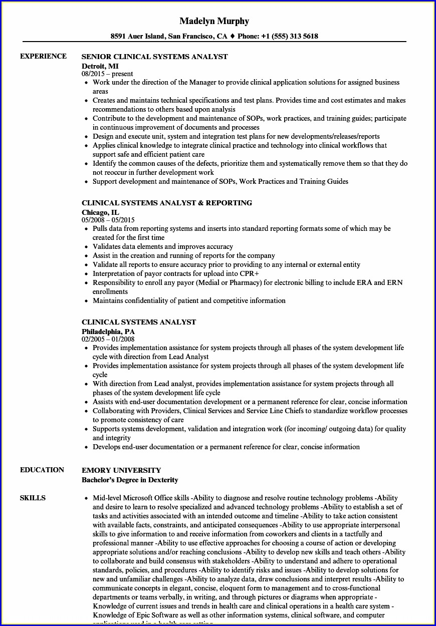 Free Healthcare Resume Examples