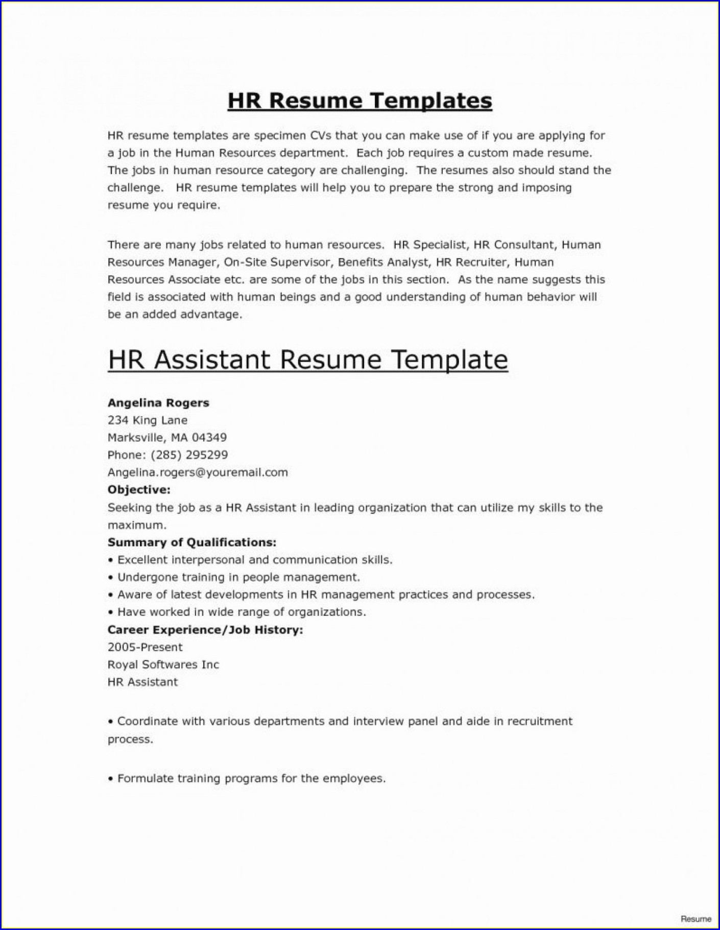 Free Medical Receptionist Resume Templates