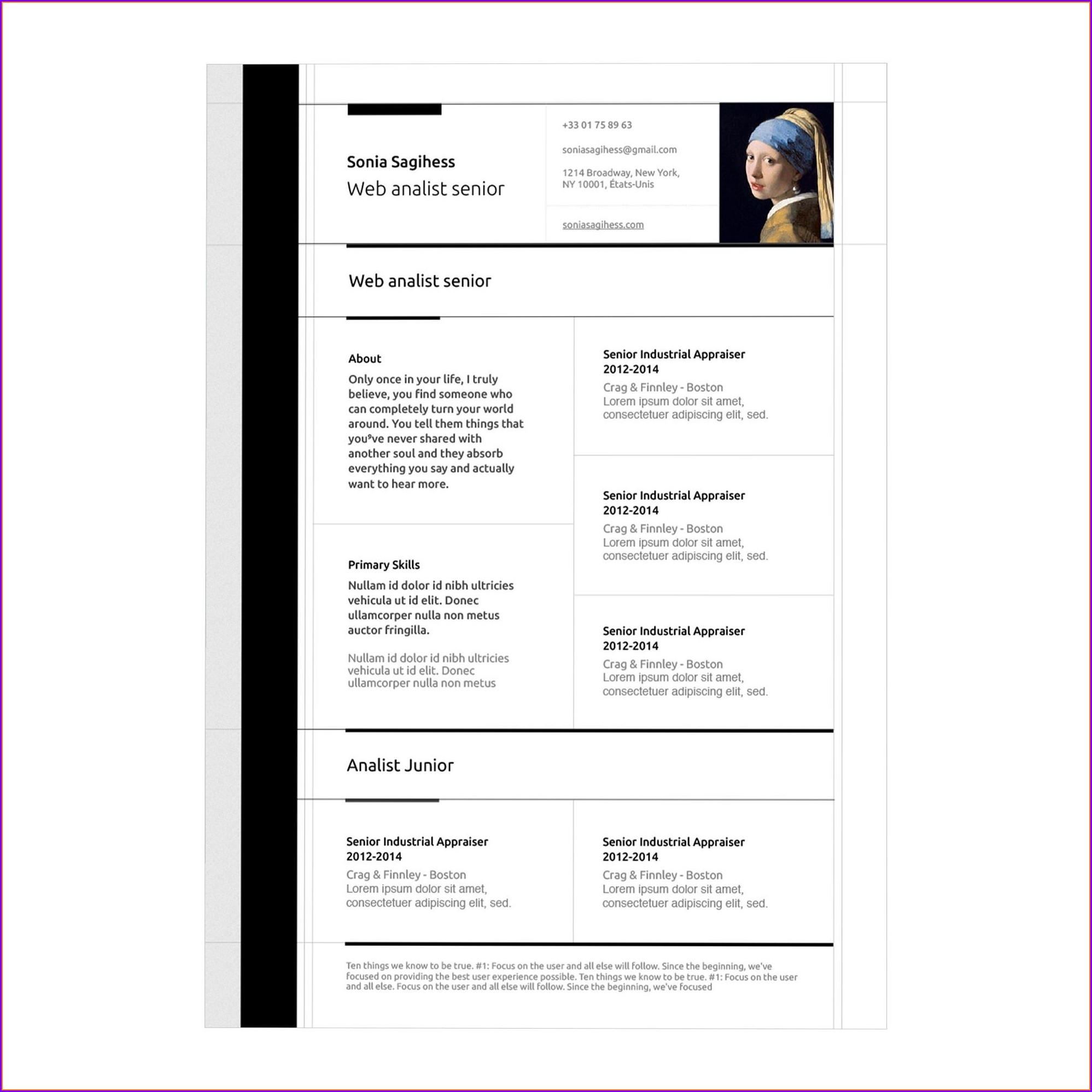 Free Resume Template Apple