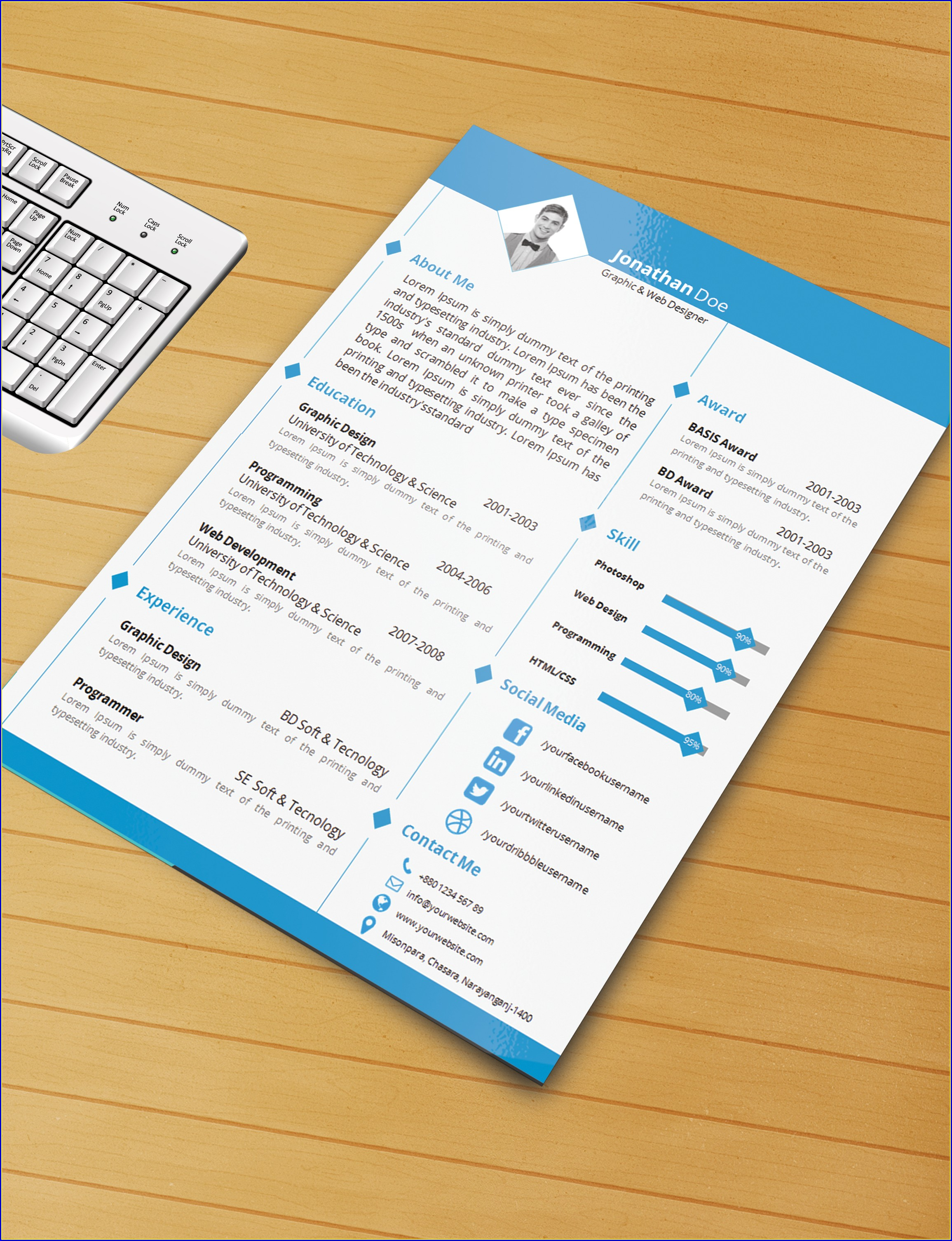 Free Resume Template Download Ms Word