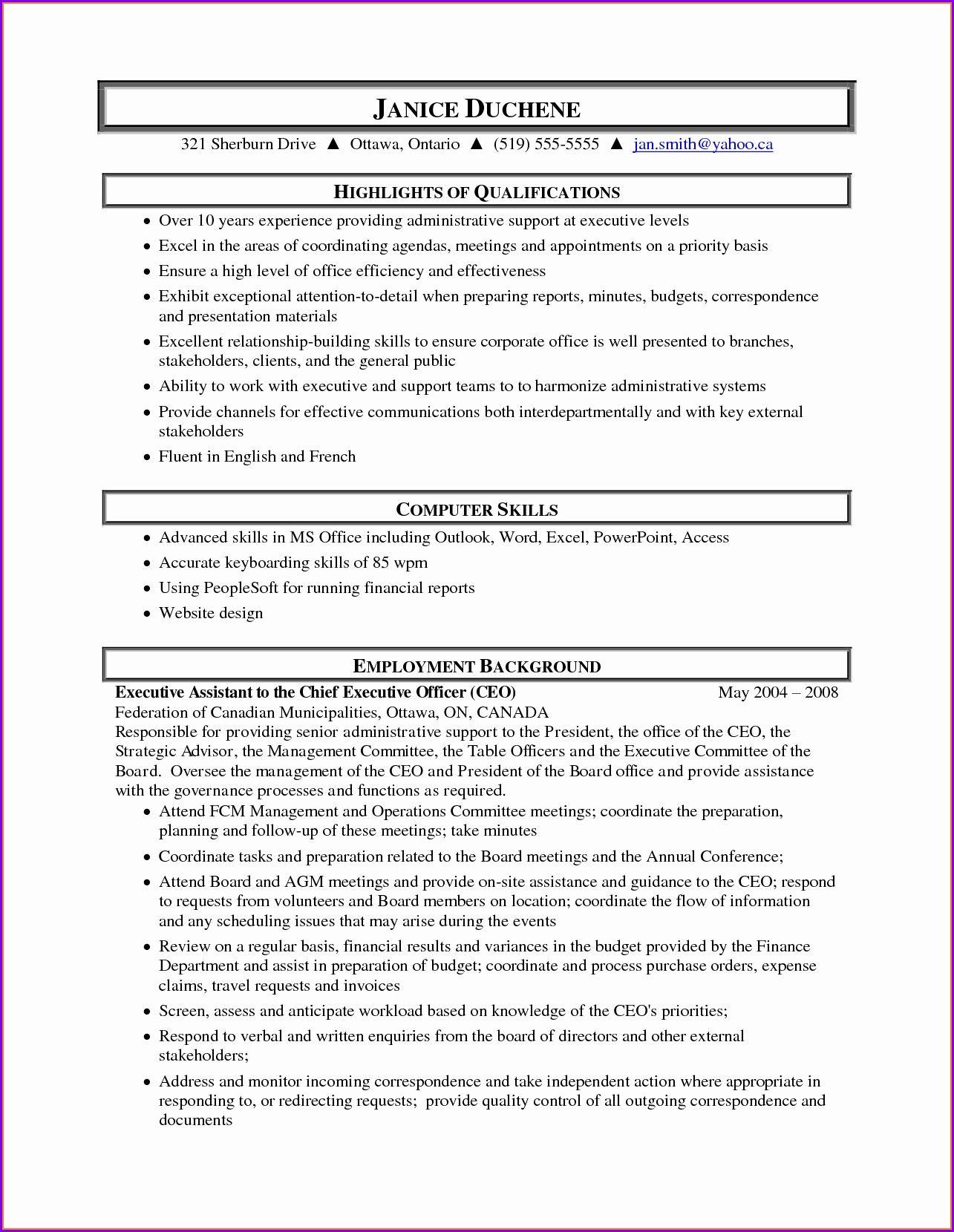 Free Sample Resume Medical Administrative Assistant