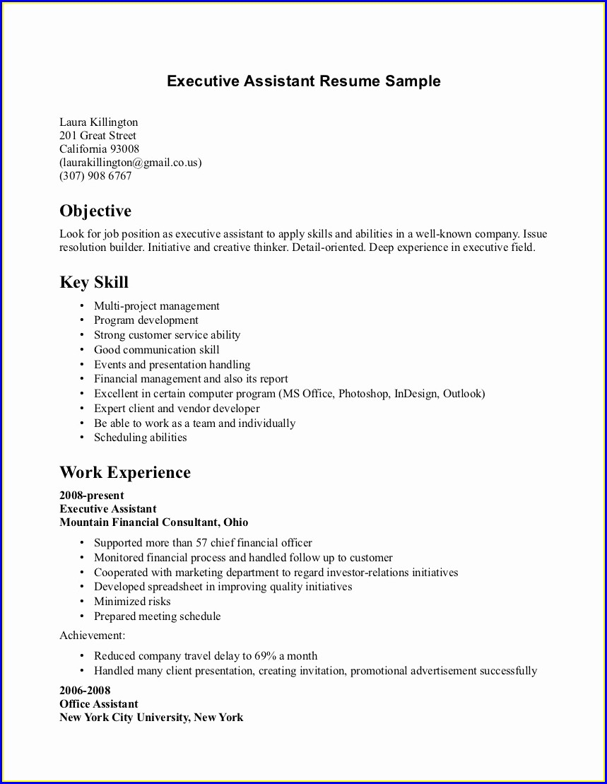 Fresher Cv Format For Hotel Management